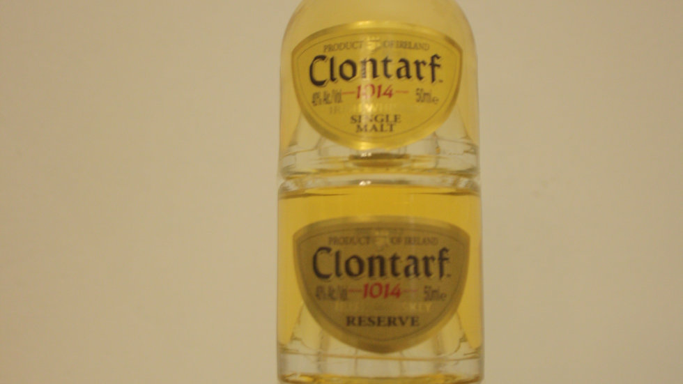 Clontarf Irish Whiskey Mini-Trinity Vorderansicht