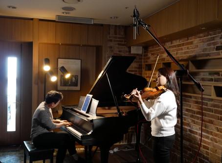 바이올리니스트 임지영님, 피아니스트 신창용님 연주영상 출장녹음_뮤직앤아트스튜디오