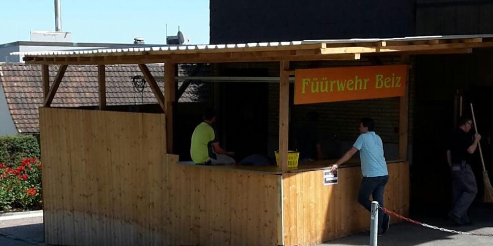 Aufbau Schüür-Fäscht Dielsdorf 2021
