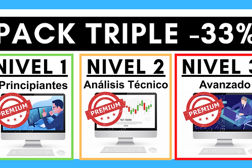PACK TRIPLE: Nivel 1 + Nivel 2 + Nivel 3