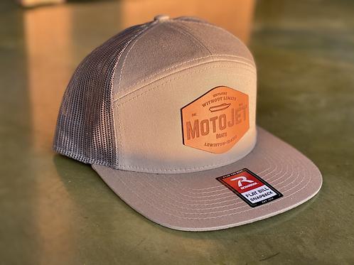 MotoJet Leather Patch Hat | Khaki/Loden