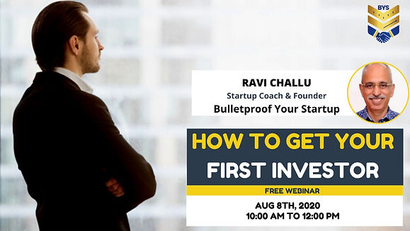 How to get your First Investor