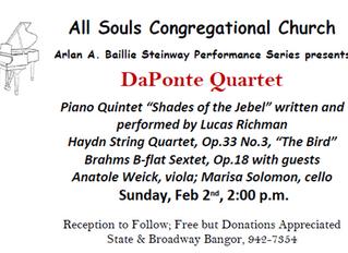 DaPonte Quartet | February 2nd