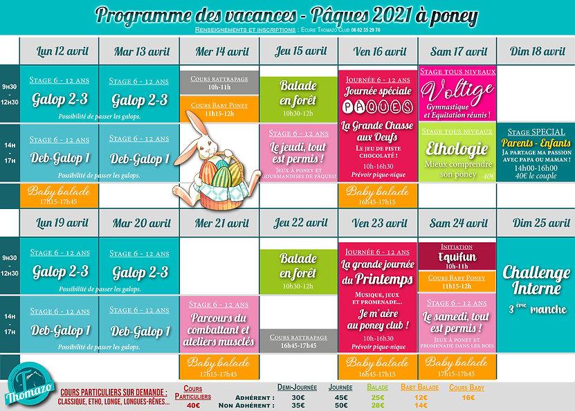 Programme des vacances de PAQUES 2021.jp