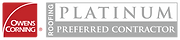 Owens Corning Platinum Preferred Contractor Graphic