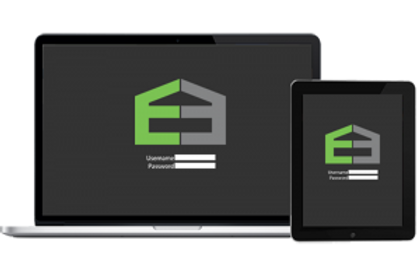 Image of Emerson Enterprise logo on Computer and Tablet