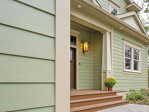 Image of new siding on a house