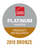 Emerson Enterprises Owens Corning Platinum Award Icon