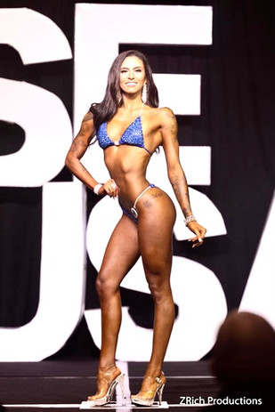 Bikini Client Tiana B. and her stage picture