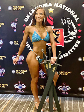 Client Paige at her first bikini competition