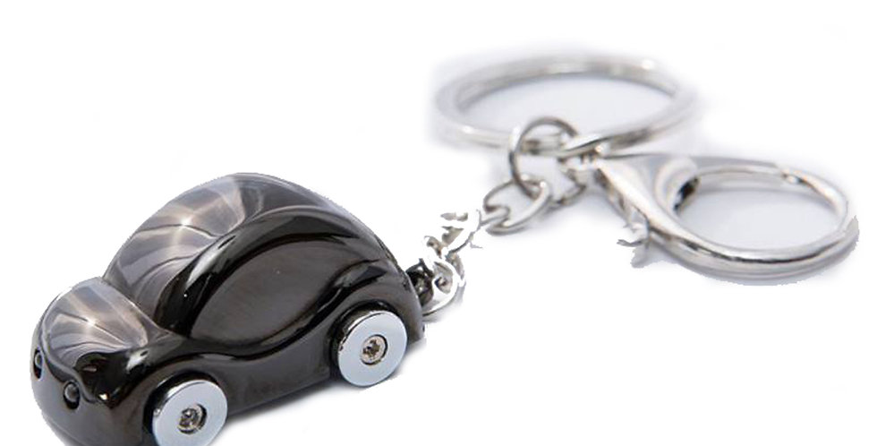 Metallic Shiny Black Key Chain