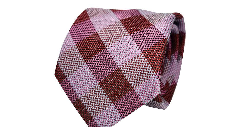 Magenta Shade Check Tie