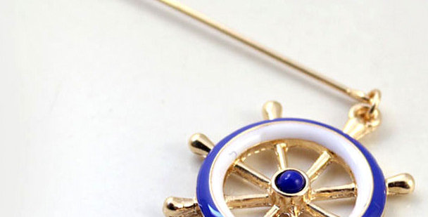Ship Wheel Lapel Pin