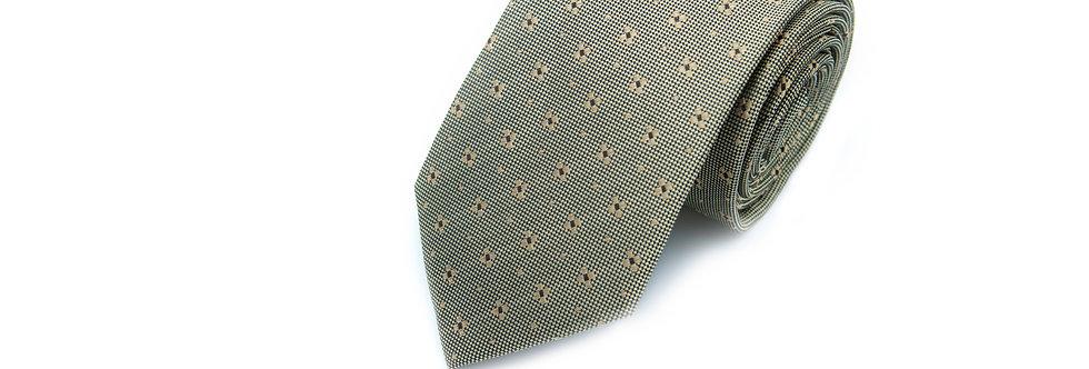 Golden Polko-Flo Silk Tie