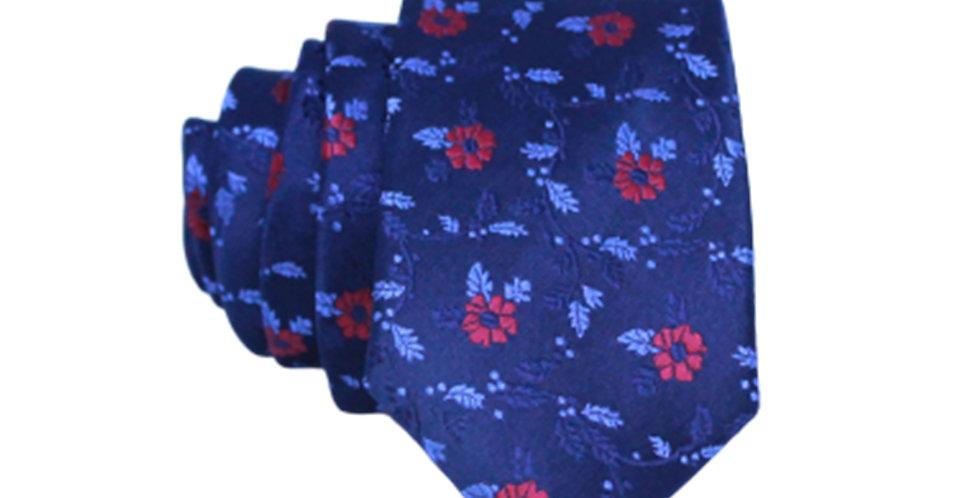 Floral Navy Tie