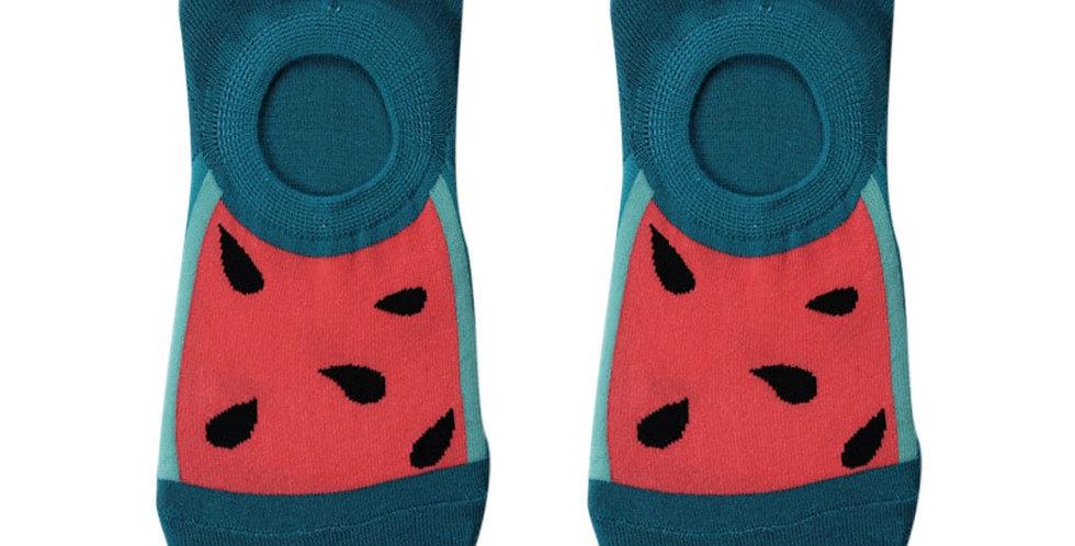 Melon Seed Splash Loafer Sock
