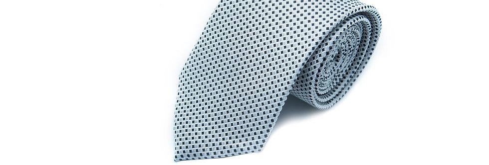 Squared Silver Neck Tie