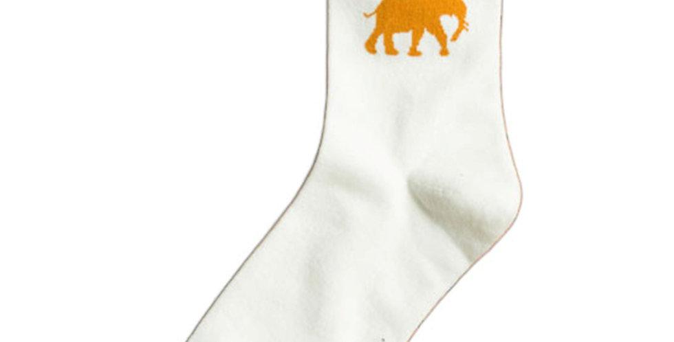 Elephant White Sock