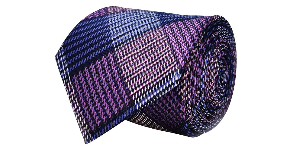 Lavender Shade Check Tie