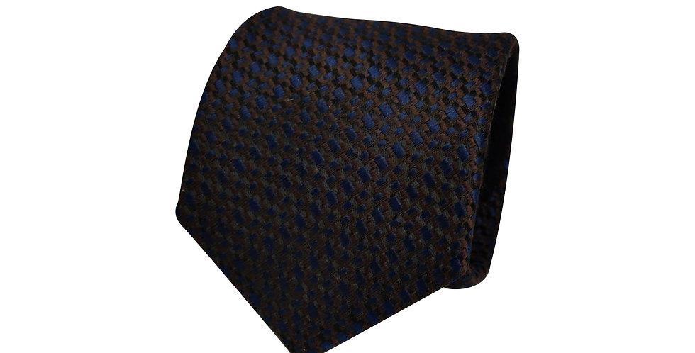 Brown Navy Dazzle Tie
