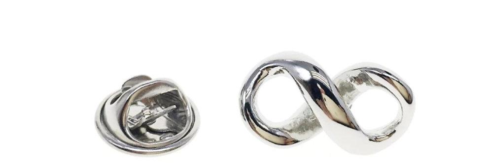 Infinity Silver Brooch