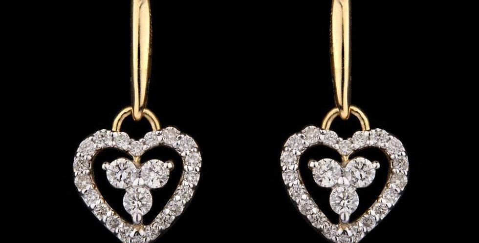 Sparkle Heart Loop Earring