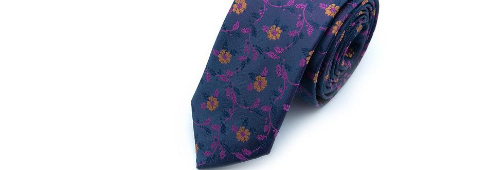 Indigo Floral Neck Tie