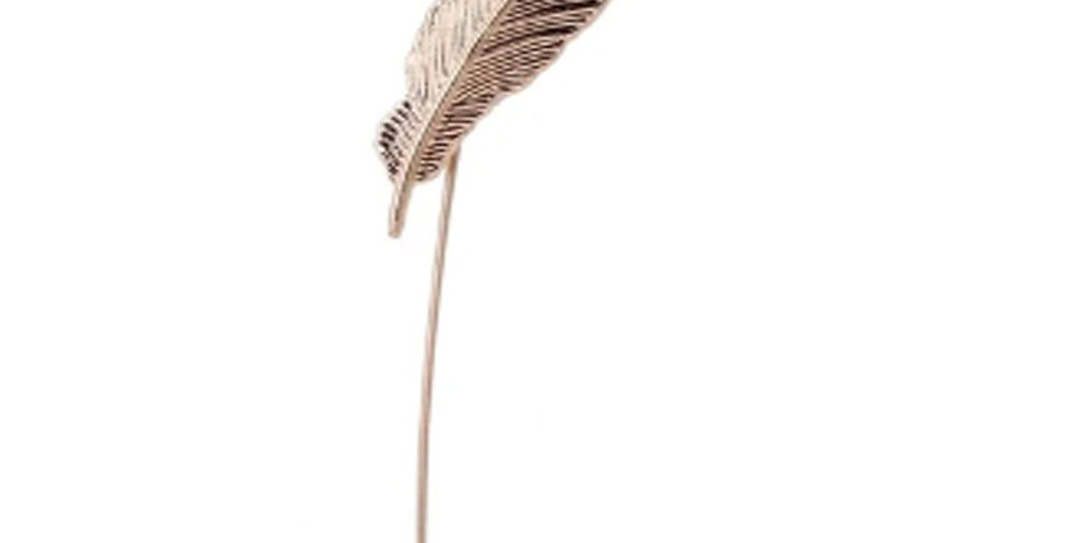 Feather Gold Lapel Pin