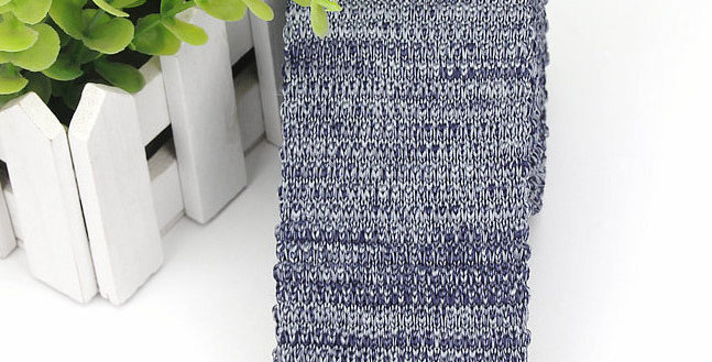 Grey Knit Tie