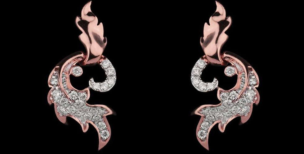 Ferro Petal Rose Gold Earring