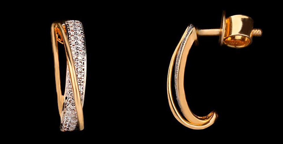 Greek Cut Earring