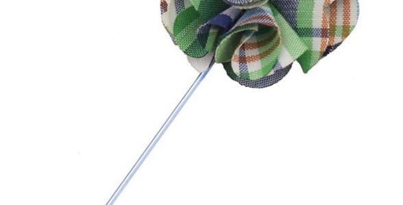 Green Checks Lapel Pin