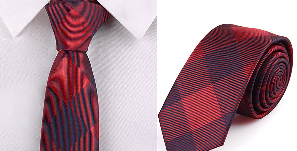 Red Check Tie
