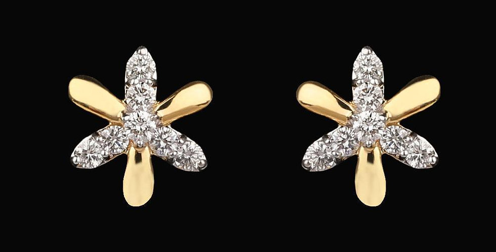 Golden Floret Earring