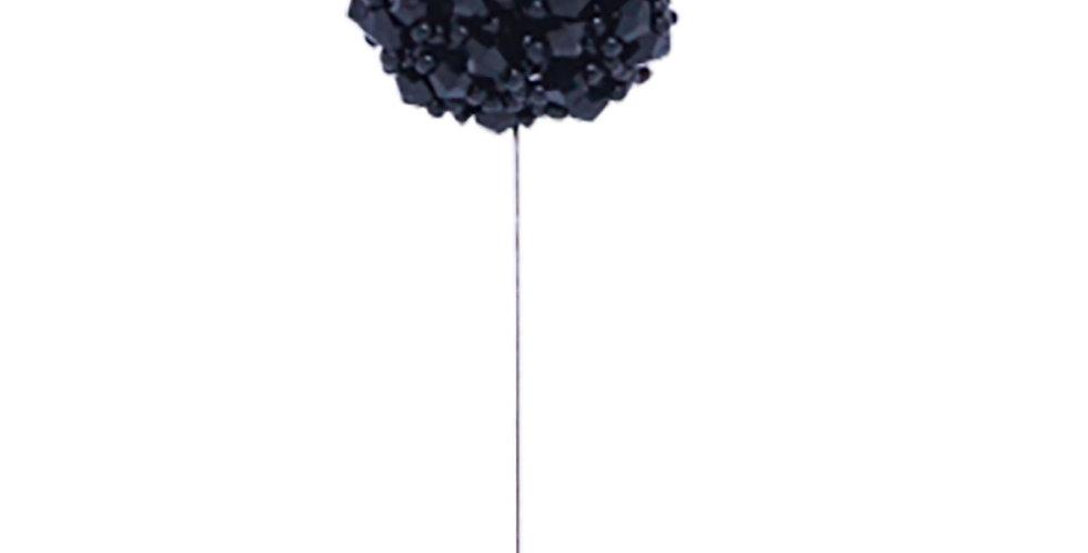 Black Stone Lapel Pin