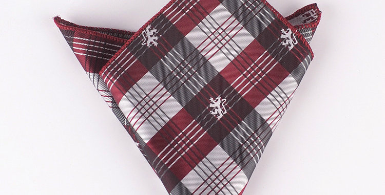 Red Checks Pocket Square