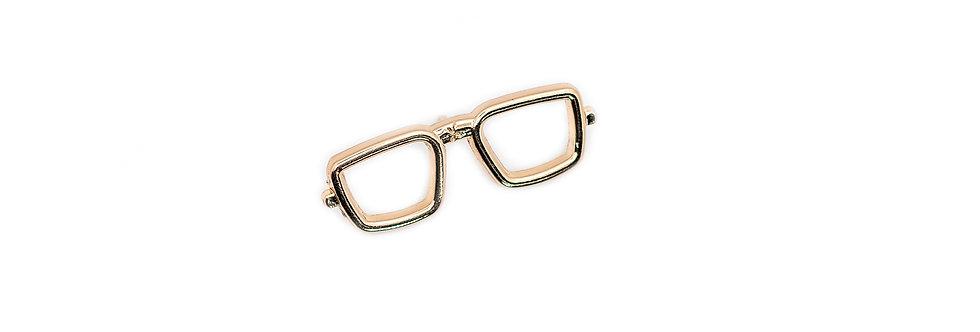Gold Specs Brooch