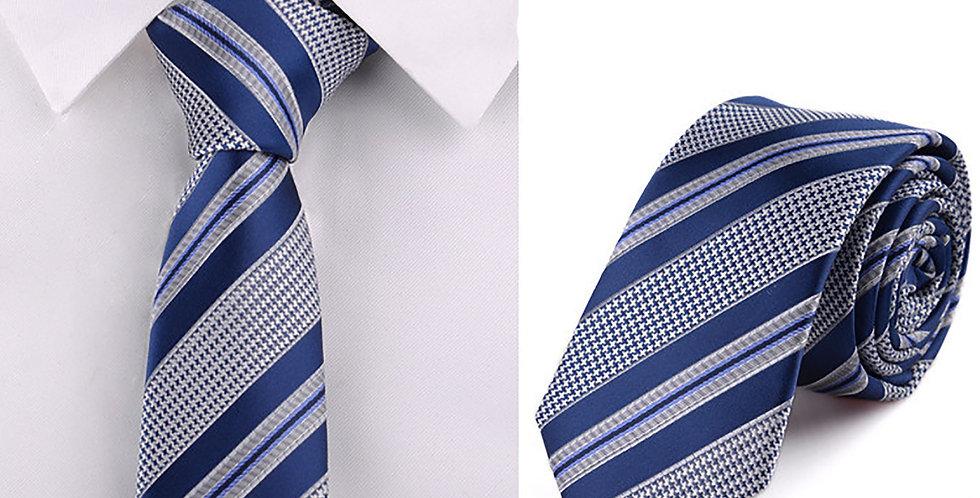 Navy Houndstooth Tie