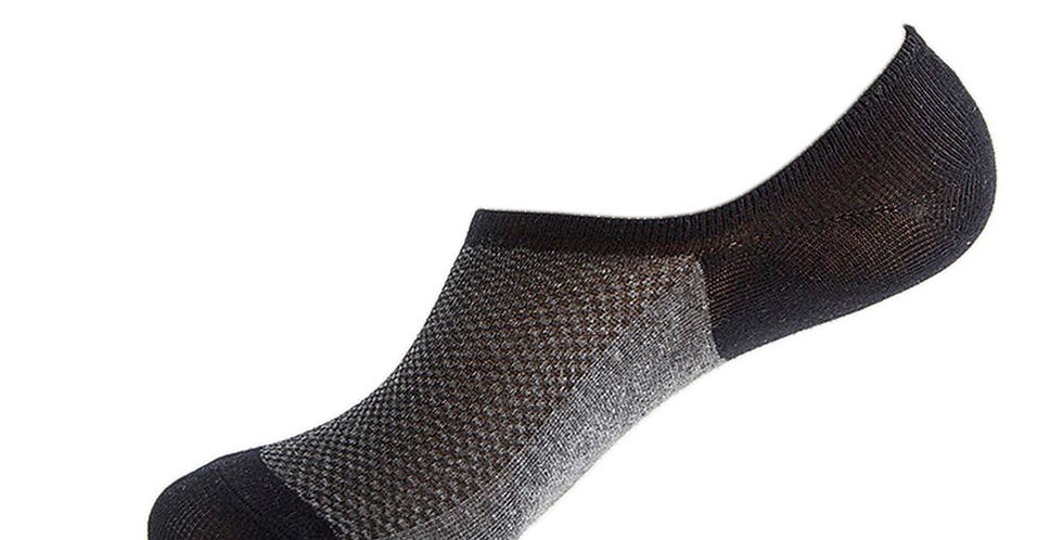 Black Bamboo Loafer Sock