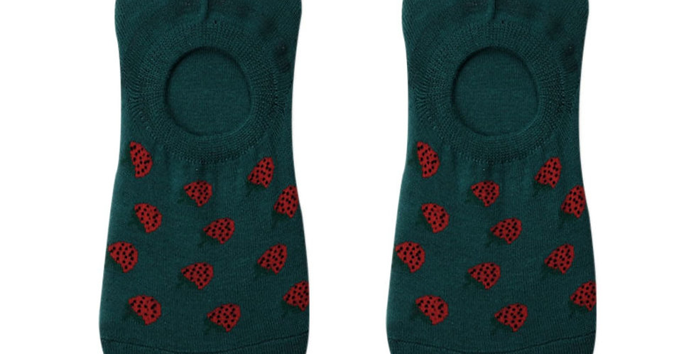 Strawberry Splash Loafer Sock