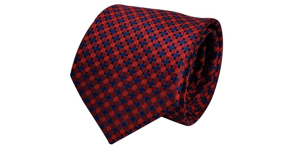 Red Plus Polka Tie