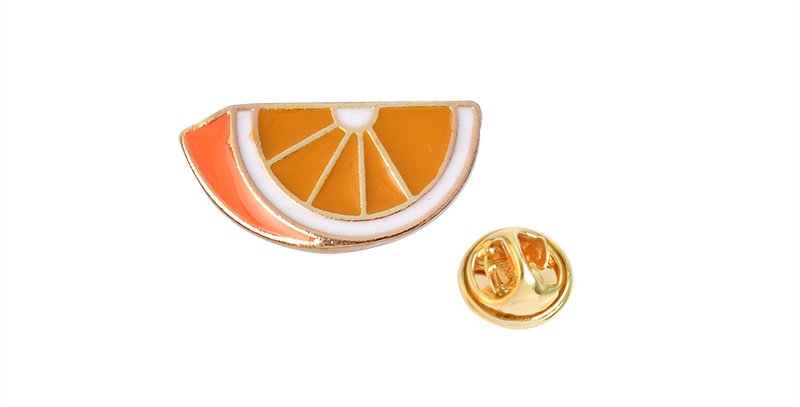 Orange Brooch