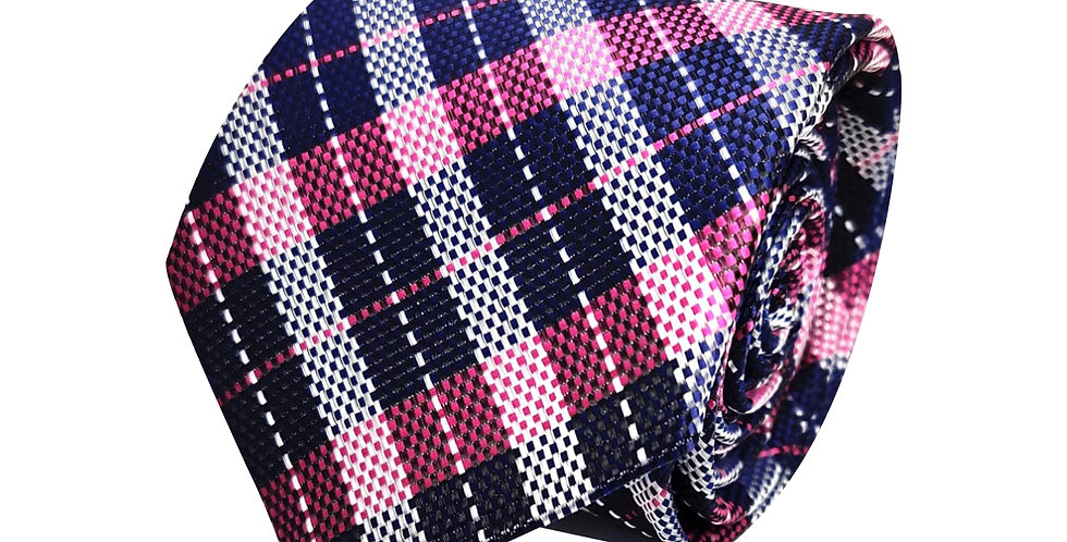 MagNavi Stripe Check Tie