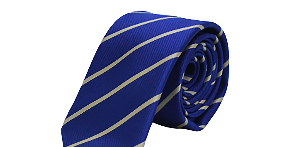 Navy Gold Stripe Tie