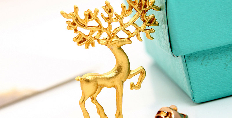 Gold Deer Brooch