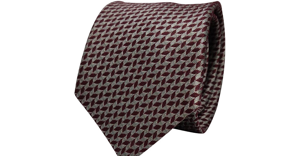 Maroon Polka Leaf Tie