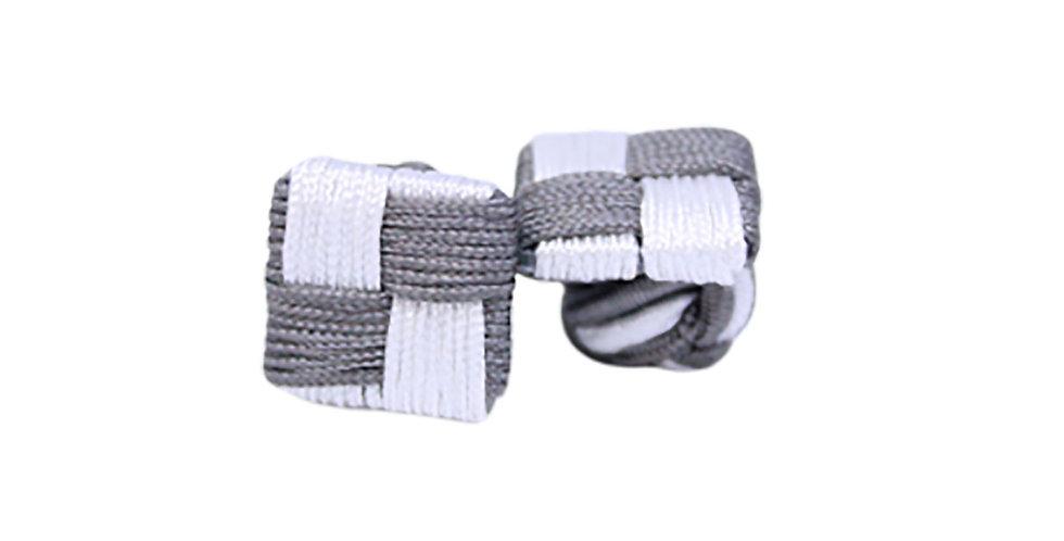 Silver Frost Fabric Cufflink