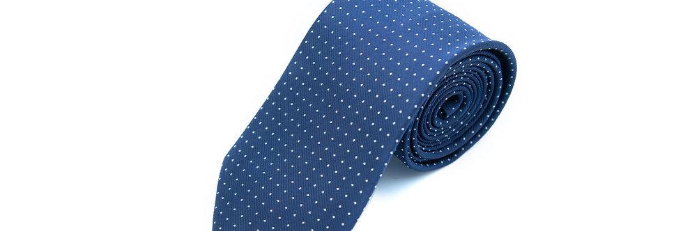 Navy Dotted Neck Tie