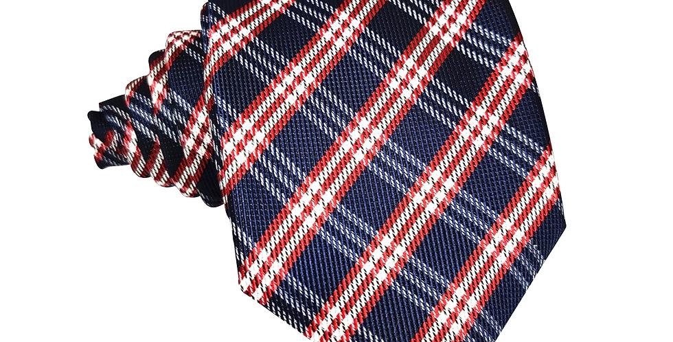 Red Navy Uniform Check Tie