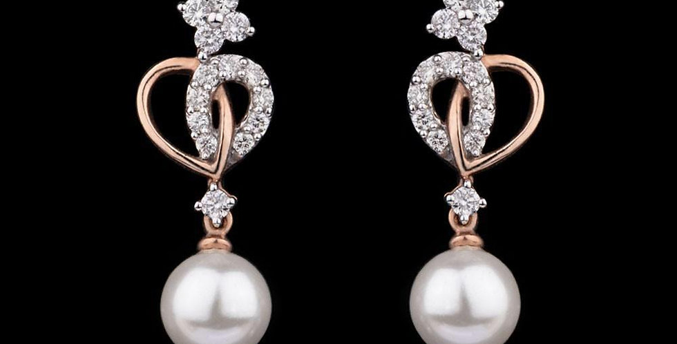 Moon-drop Pearl Earring